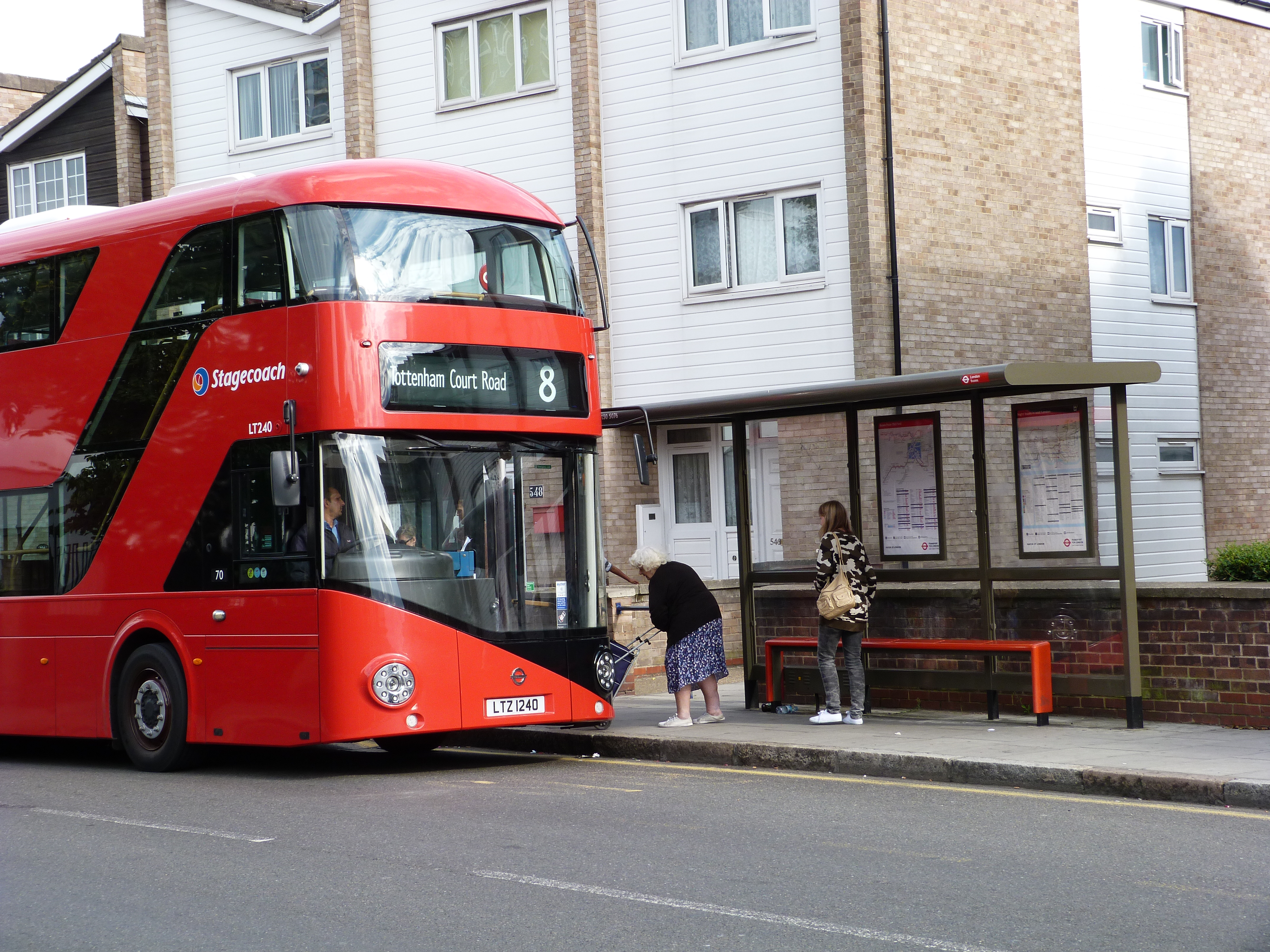 Parnell Road bus stop, Old Ford Road, London