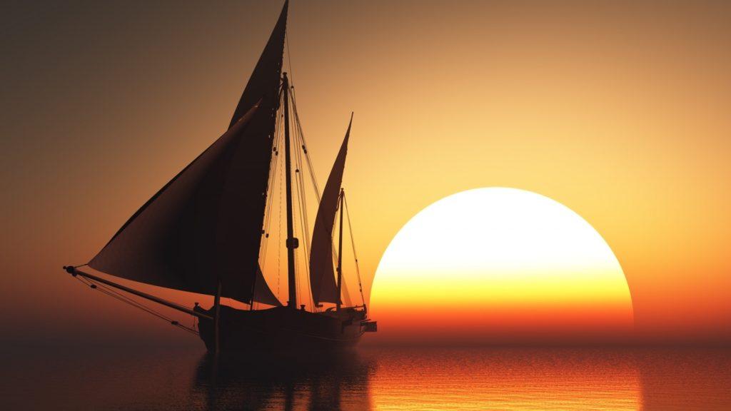 Nave Argo al tramonto